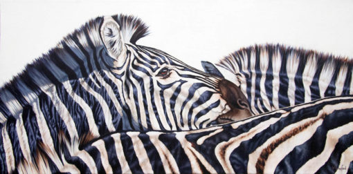 """""""The Herd"""", zebras, original oil painting by Wendy Beresford"""