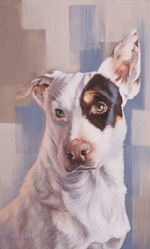 """Jack"" dog portrait, oil painting by Wendy Beresford"