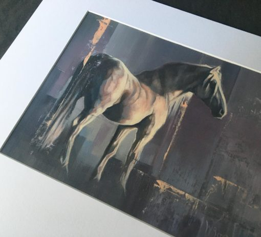"""Shadowfax"", original oil painting, 250mm x 350mm, mounted and ready to frame, by Wendy Beresford"