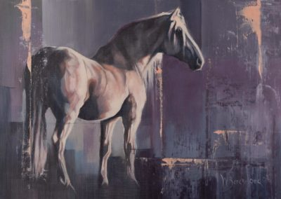 """Shadowfax"", original oil painting on canvas, 250mm x 350mm, mounted and ready to frame, by Wendy Beresford"