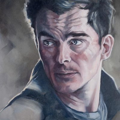 Portrait of Peter Quinn from Homeland, oil on canvas, by Wendy Beresford