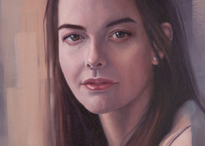 Portrait of girl, oil on canvas, by Wendy Beresford