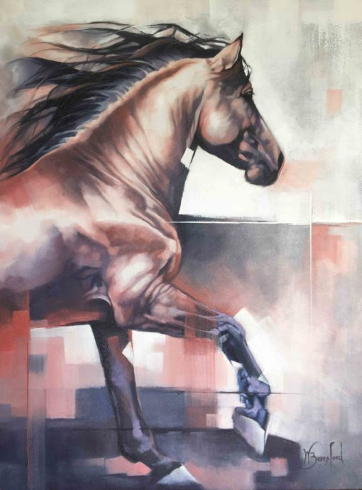 """""""Strawberry Roan"""", original oil painting by Wendy Beresford"""
